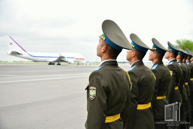 Президент Республики Корея отбыл в Самарканд